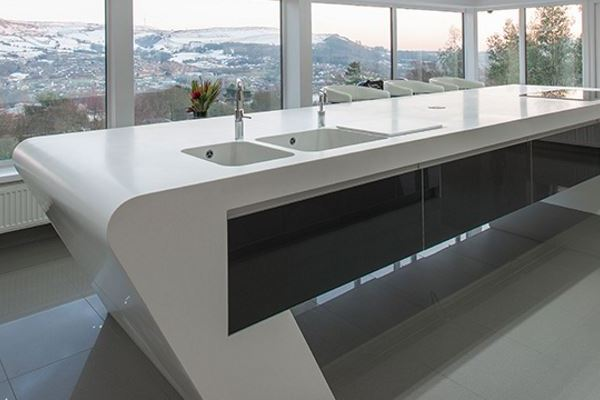 Corian worktops Mayflower Stone